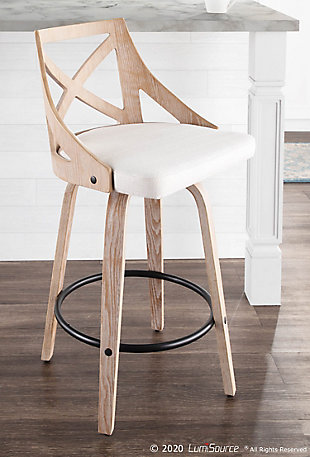 LumiSource Charlotte Counter Stool - Set of 2, , rollover