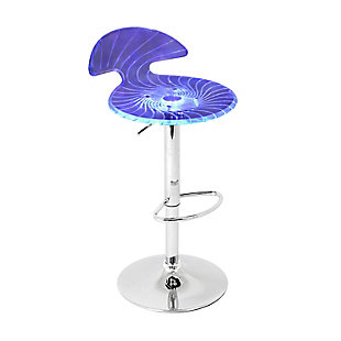 LumiSource Spyra LED Barstool - Poly, , large