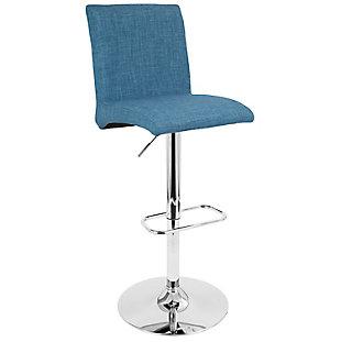 LumiSource Tintori Barstool, Blue, large