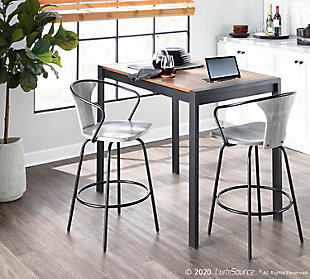 LumiSource Waco Industrial Counter Stool, , rollover