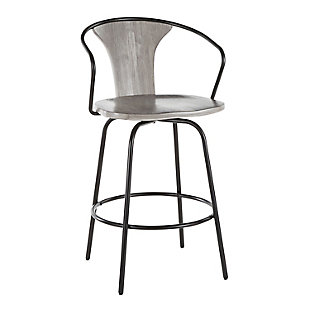 LumiSource Waco Industrial Counter Stool, , large