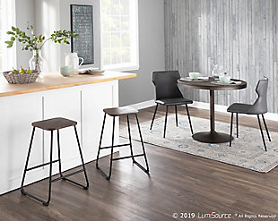 LumiSource Zac Counter Stool - Set of 2, , rollover
