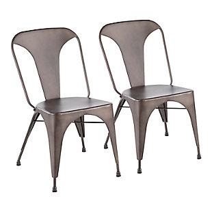 LumiSource Austin Dining Chair - Set of 2, Antique, large