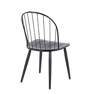 LumiSource Riley High Back Chair - Set of 2, Black, large