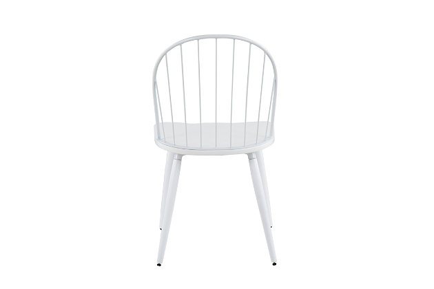 LumiSource Riley High Back Chair - Set of 2, White, large