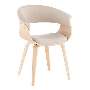 LumiSource Vintage Mod Chair, Natural/Cream, large