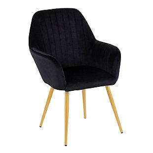 LumiSource Shelton Chair, Gold/Black, large