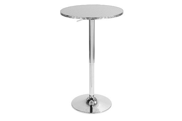 LumiSource Bistro Round Bar Table, , large