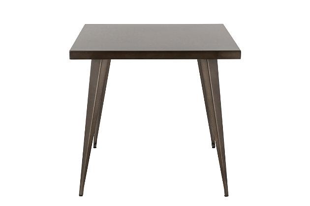 LumiSource Austin Dinette Table, Antique, large