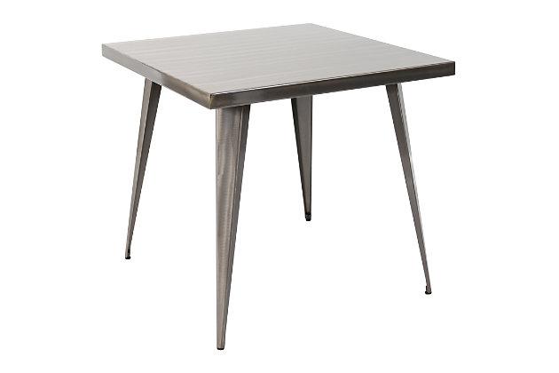 LumiSource Austin Dinette Table, Silver, large
