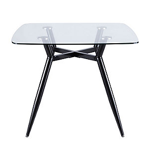 LumiSource Clara Dinette Table, Black/Clear, large