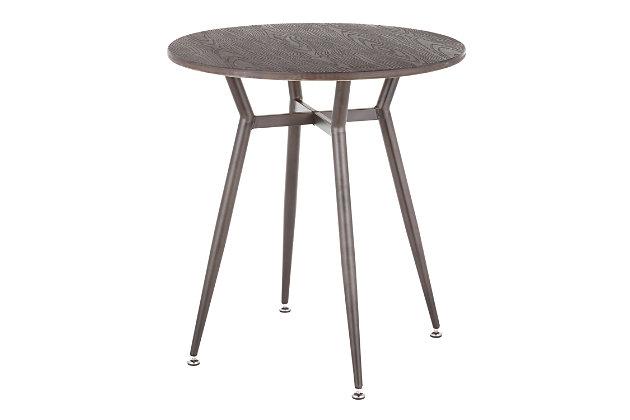 LumiSource Clara Round Dinette Table, Antique/Espresso, large