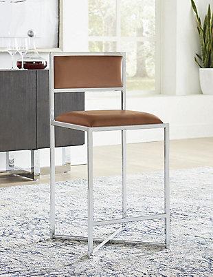 Modus Furniture International Amalfi X-Base Bar Stool in Cognac (Set of 2), Cognac, rollover