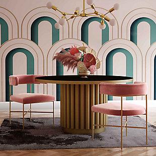 TOV Furniture Kim Performance Velvet Chair, Blush, rollover