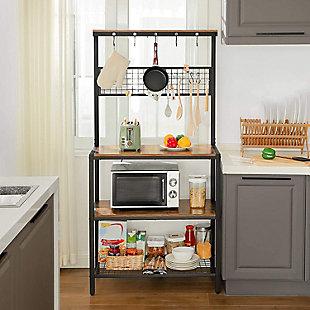 VASAGLE Kitchen Bakers Rack Cupboard, , rollover