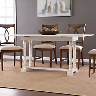 Southern Enterprises Leighanna Farmhouse Folding Trestle Console to Dining Table, , rollover