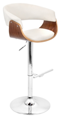 Adjustable Height Bar Stool Swivel Beige Mod Product Photo 3281