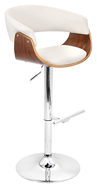 Verdana Adjustable Height Bar Stool with Swivel, Beige, large