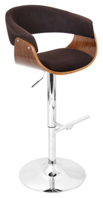 Adjustable Height Bar Stool Swivel Brown Mod Product Photo 3281