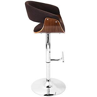 Verdana Adjustable Height Bar Stool with Swivel, Brown, large