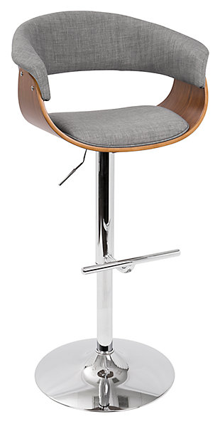 Verdana Adjustable Height Bar Stool with Swivel, , large