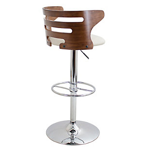Cameron Adjustable Height Bar Stool with Swivel, Beige, large