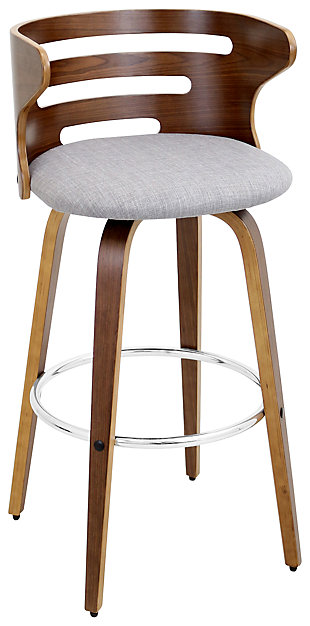 LumiSource Cosini Bar Height Bar Stool with Swivel, , large