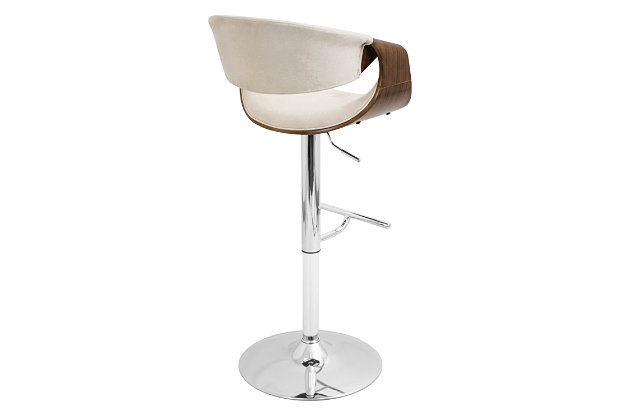 Tabitha Adjustable Height Bar Stool with Swivel, Beige, large