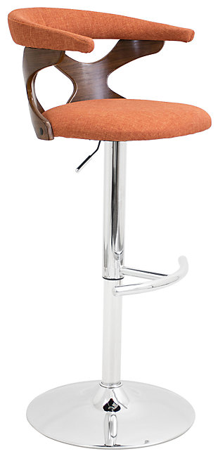 LumiSource Gardenia Adjustable Height Bar Stool with Swivel, , large