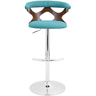 Louis Adjustable Height Bar Stool with Swivel, Blue, rollover