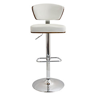 LumiSource Ravinia Adjustable Height Bar Stool with Swivel, , rollover