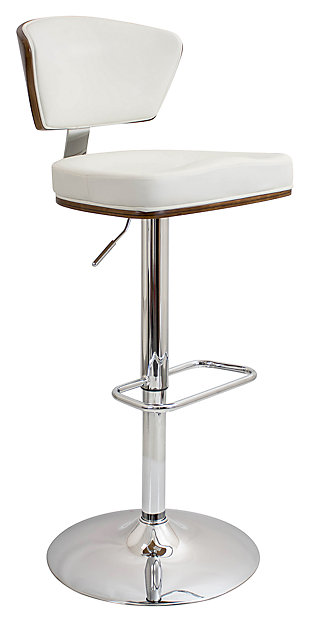 LumiSource Ravinia Adjustable Height Bar Stool with Swivel, , large