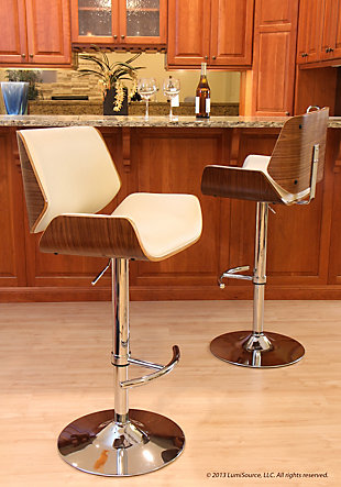 LumiSource Santi Adjustable Height Barstool with Swivel, , rollover