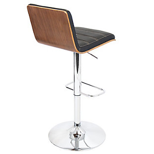 Valria Adjustable Height Bar Stool with Swivel, Black, large