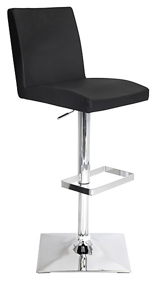 LumiSource Captain Adjustable Height Bar Stool with Swivel, , large