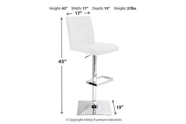 Carrie Adjustable Height Bar Stool with Swivel, , large
