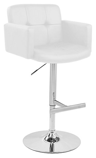 LumiSource Stout Adjustable Height Barstool with Swivel, , large