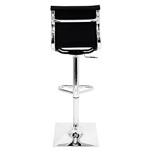 Master Adjustable Height Bar Stool with Swivel, Black, large