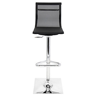 Mirage Adjustable Height Bar Stool with Swivel, Black, rollover