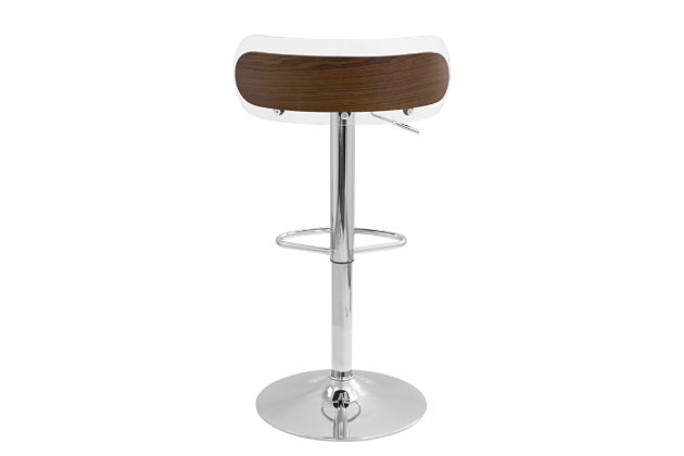 LumiSource Arc Contemporary Adjustable Height Bar Stool, , large