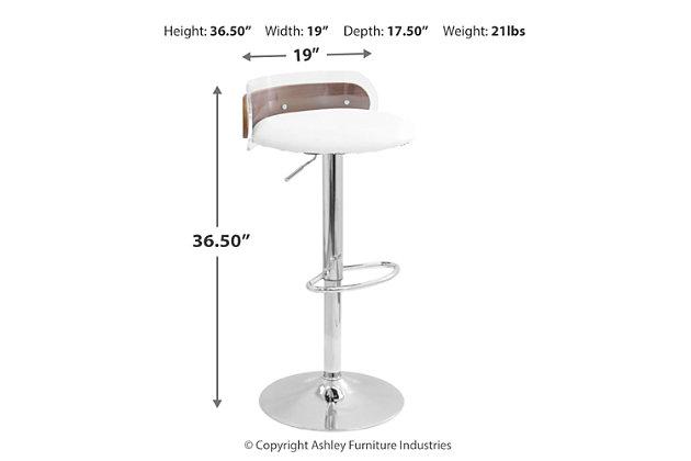 Robbin Adjustable Height Bar Stool, , large