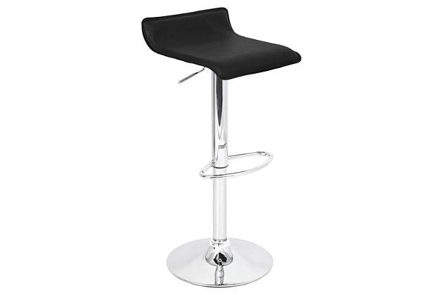 LumiSource Ale Adjustable Height Bar Stool with Swivel, , large