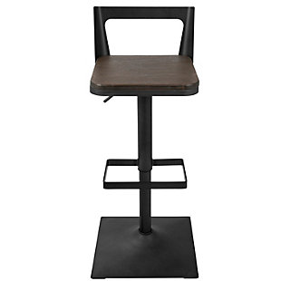 LumiSource Samurai Adjustable Height Industrial Bar Stool, , rollover