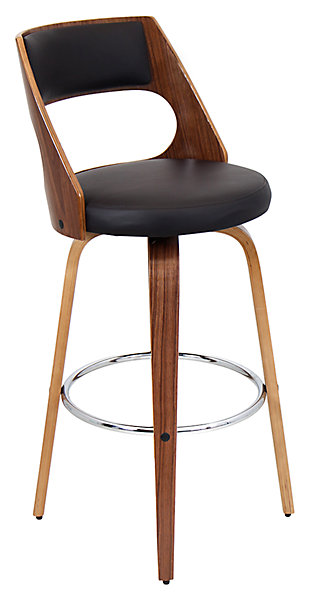LumiSource Cecina Bar Height Bar Stool with Swivel, , large
