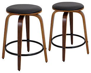 LumiSource Porto Counter Stools with Swivel (Set Of 2), , large