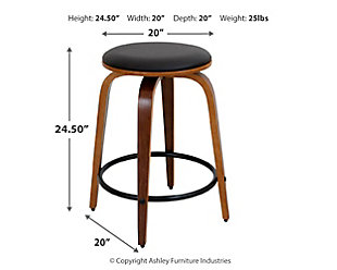 Porto Counter Stools with Swivel (Set of 2), , large