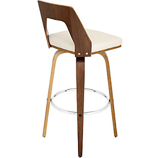 Trilogy Bar Height Bar Stool with Swivel, Beige, large