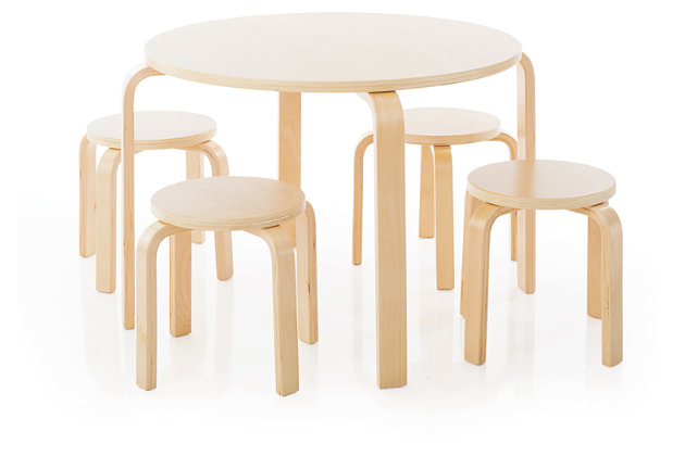 Nordic Table and Chairs (Set of 5), , large