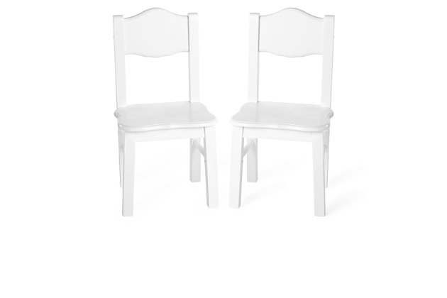 Classic White Chairs (Set of 2), , large