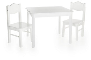 Classic White Table and Chairs (Set of 3), , large